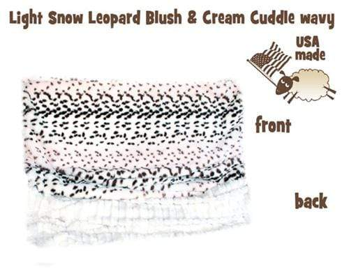 Doggy Stylz Dog-products New! Light Snow Leopard Itty Bitty Baby Blanket