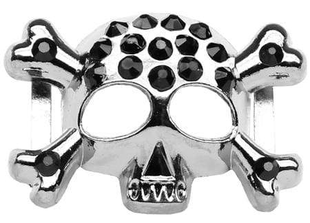 "Doggy Stylz Dog-products New Pet Products 3-4"" (18mm) Slider Skull Charm  Black"
