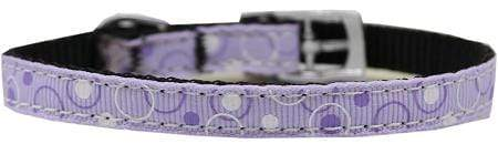 "Doggy Stylz Dog-products New Pet Products Retro Nylon Dog Collar With Classic Buckle 3-8"" Lavender Size 14"
