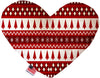 Doggy Stylz Dog-products New Red Classic Christmas 8 Inch Heart Dog Toy