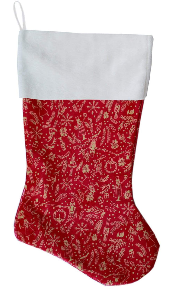 Doggy Stylz Dog-products New! Red Holiday Whimsy Christmas Stocking