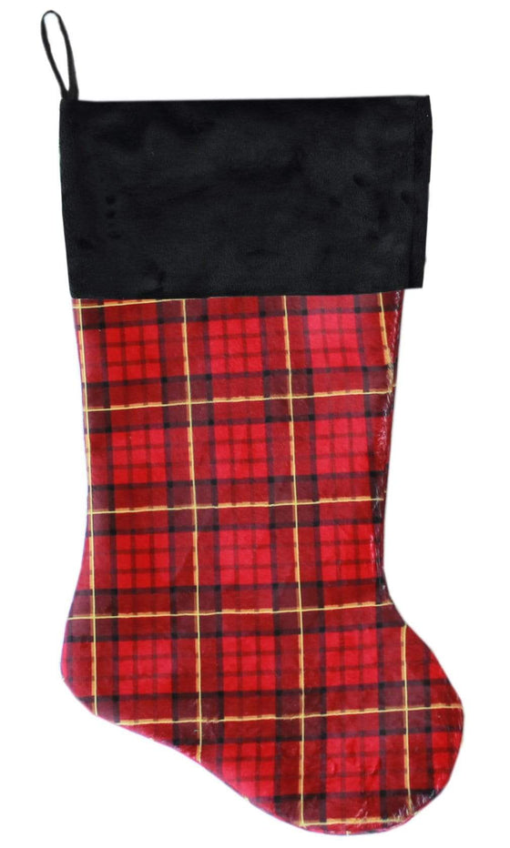 Doggy Stylz Dog-products New! Red Plaid Christmas Stocking