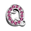 "Doggy Stylz Dog-products Pet Charms 3-8"" Pink Script Letter Sliding Charms Q"