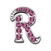 "Doggy Stylz Dog-products Pet Charms 3-8"" Pink Script Letter Sliding Charms R"