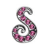 "Doggy Stylz Dog-products Pet Charms 3-8"" Pink Script Letter Sliding Charms S"
