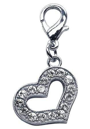 Doggy Stylz Dog-products Pet Charms Lobster Claw Heart Charm  Clear
