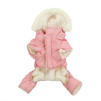 Doggy Stylz Dog-products Pink Ruffin It Dog Snow Suit Harness