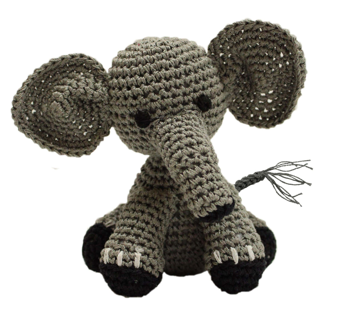 Doggy Stylz Dog-products Toys Knit Knacks Bubbles The Baby Elephant Organic Cotton Small Dog Toy