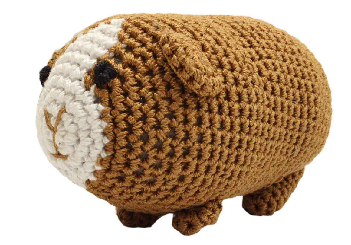 Doggy Stylz Dog-products Toys Knit Knacks Goober The Guinea Pig Organic Cotton Small Dog Toy