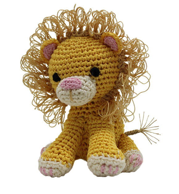 Doggy Stylz Dog-products Toys Knit Knacks King Cuddles The Lion Organic Cotton Small Dog Toy
