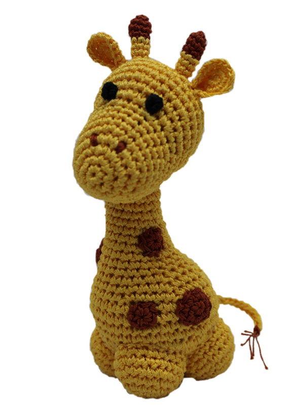 Doggy Stylz Dog-products Toys Knit Knacks Louie Longneck The Giraffe Organic Cotton Small Dog Toy