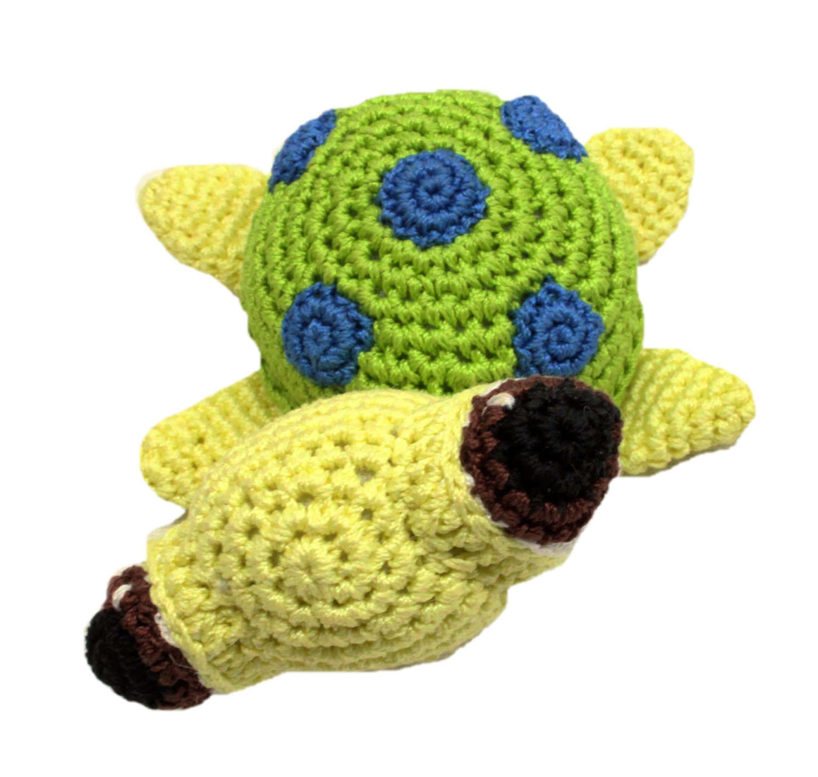 Doggy Stylz Dog-products Toys Knit Knacks Squish The Sea Turtle Organic Cotton Small Dog Toy