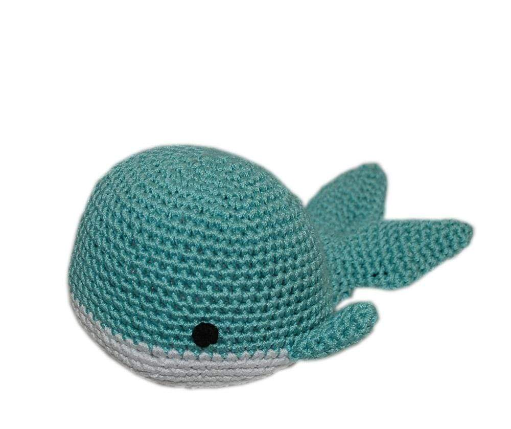 Doggy Stylz Dog-products Toys Knit Knacks Whale Organic Cotton Small Dog Toy