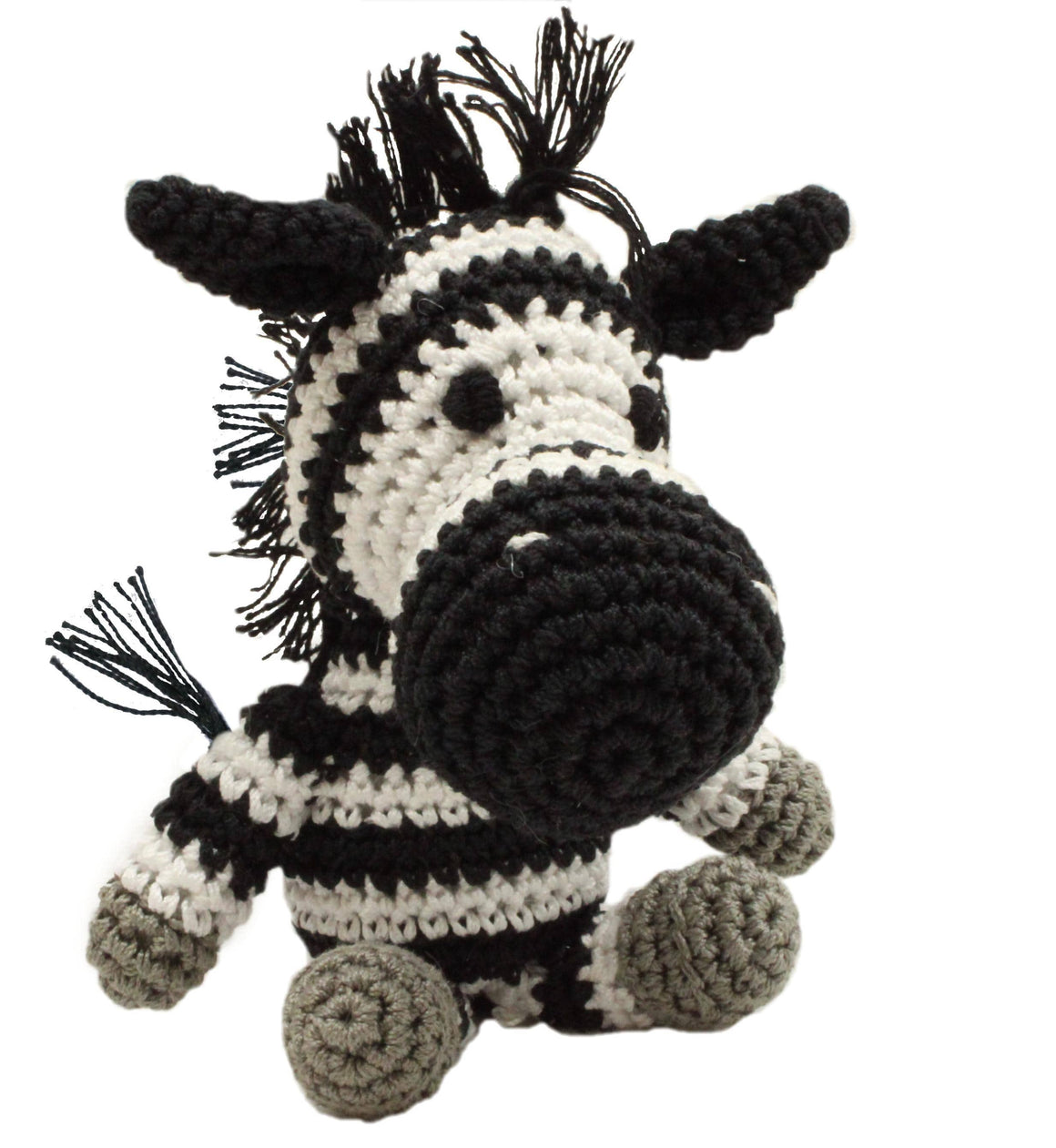 Doggy Stylz Dog-products Toys Knit Knacks Zsa Zsa The Zebra Organic Cotton Small Dog Toy