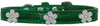 Doggy Stylz Dog-products New Emerald Green / 10 Silver Flower Widget Croc Dog Collar Size