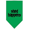 Doggy Stylz Dog-products Dog Bandanas Emerald Green / Large Shed Happens Screen Print Bandana