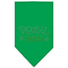 Doggy Stylz Dog-products Dog Bandanas Emerald Green / Large Trouble Maker Rhinestone Bandana
