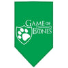 Doggy Stylz Dog-products General Emerald Green / Large Game Of Bones Screen Print Bandana