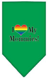 Doggy Stylz Dog-products New Emerald Green / Large I Heart My Mommies Screen Print Bandana