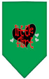Doggy Stylz Dog-products New Emerald Green / Large Little Flirt Screen Print Bandana