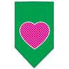 Doggy Stylz Dog-products New Pet Products Emerald Green / Large Pink Swiss Dot Heart Screen Print Bandana
