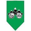 Doggy Stylz Dog-products New! Emerald Green / Large Stay Wild Screen Print Bandana
