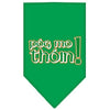 Doggy Stylz Dog-products Dog Bandanas Emerald Green / Small Pog Mo Thoin Screen Print Bandana