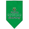 Doggy Stylz Dog-products New Emerald Green / Small Mister Pinch Charming Screen Print Bandana
