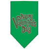 Doggy Stylz Dog-products New Pet Products Emerald Green / Small Happy Valentines Day Rhinestone Bandana