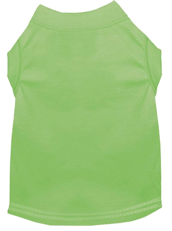 Doggy Stylz Dog-products Apparel Extra Large Plain Pet Shirts Lime Green