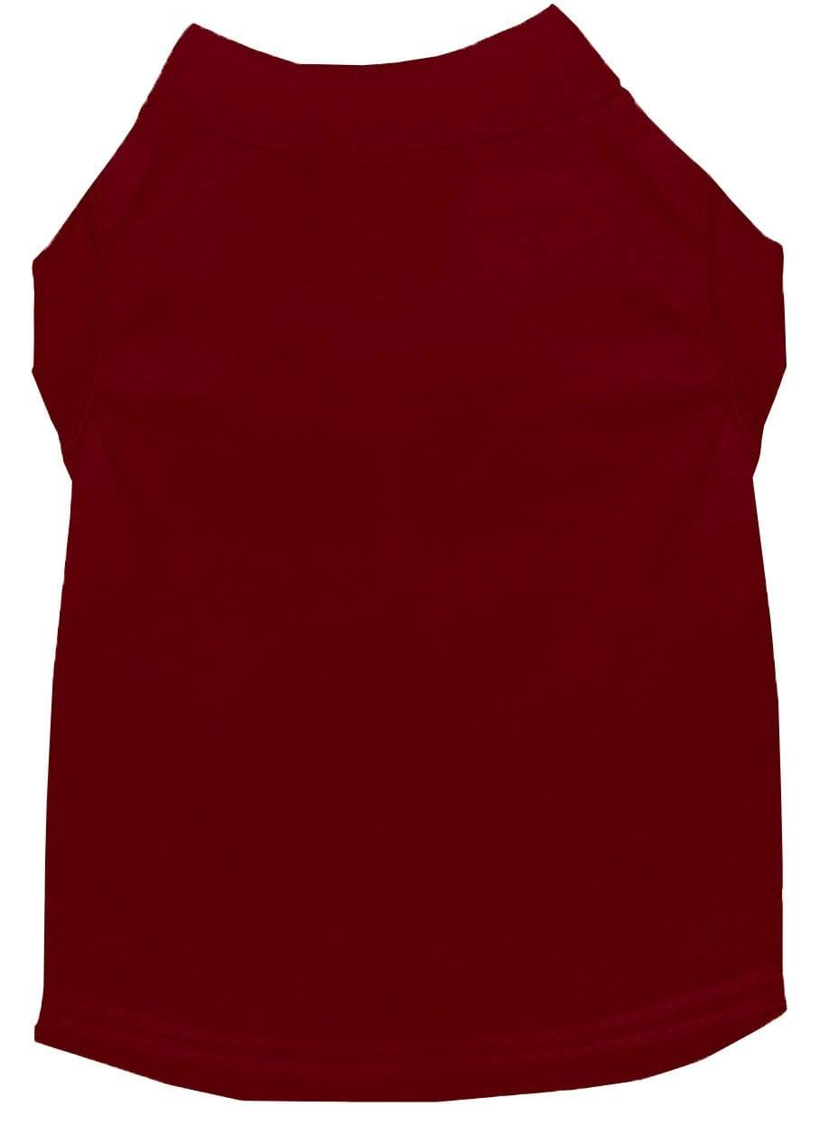 Doggy Stylz Dog-products Apparel Extra Large Plain Pet Shirts Maroon