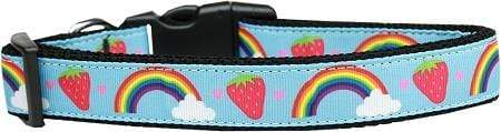 Doggy Stylz Dog-products Dog Collars And Leashes Extra large Rainbows And Berries Nylon Dog Collar