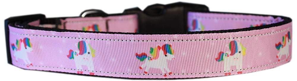 Doggy Stylz Dog-products Unicorns! Extra Small Mauve Unicorns Nylon Dog Collar