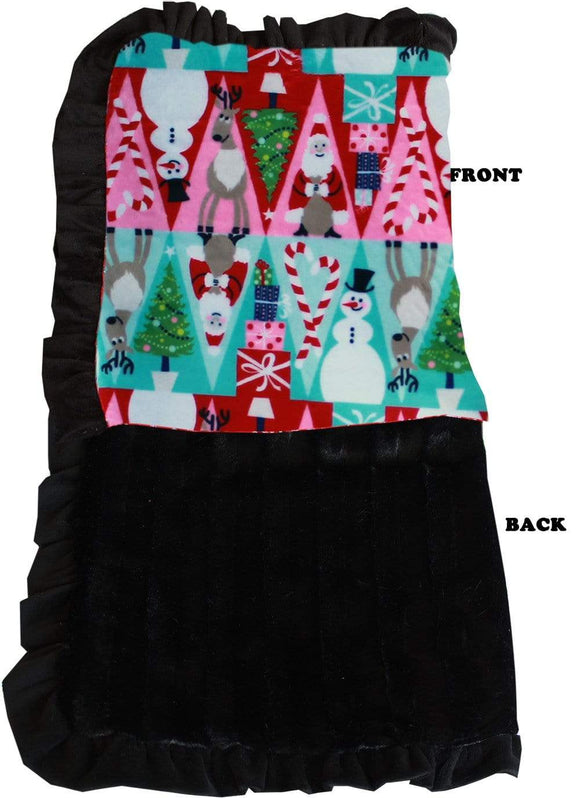 Doggy Stylz Dog-products New Full Size Luxurious Plush Pet Blanket Christmas Medley Size