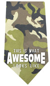 Doggy Stylz Dog-products New Pet Products Green This Is What Awesome Looks Like Screen Print Bandana