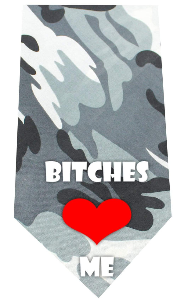 Doggy Stylz Dog-products New Pet Products Regular Bitches Love Me Screen Print Bandana