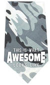 Doggy Stylz Dog-products New Pet Products Grey This Is What Awesome Looks Like Screen Print Bandana