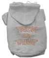 Doggy Stylz Dog-products Holiday Pet Products Grey / Extra Large Trick Or Treat Rhinestone Hoodies