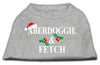 Doggy Stylz Dog-products New Pet Products Grey / Extra Large Aberdoggie Christmas Screen Print Shirt