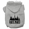 Doggy Stylz Dog-products Pet Apparel Grey / Extra Large Tokyo Skyline Screen Print Pet Hoodies Size