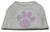 Doggy Stylz Dog-products Dog Shirts Grey / LARGE Purple Paw Rhinestud Shirts Grey