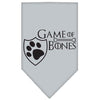 Doggy Stylz Dog-products General Grey / Large Game Of Bones Screen Print Bandana