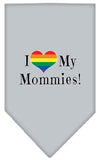 Doggy Stylz Dog-products New Grey / Large I Heart My Mommies Screen Print Bandana