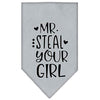 Doggy Stylz Dog-products New Grey / Large Mr. Steal Your Girl Screen Print Bandana