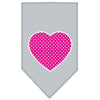 Doggy Stylz Dog-products New Pet Products Grey / Large Pink Swiss Dot Heart Screen Print Bandana