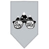 Doggy Stylz Dog-products New! Grey / Large Stay Wild Screen Print Bandana