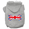 Doggy Stylz Dog-products Pet Apparel Grey / Large Bone Shaped United Kingdom (union Jack) Flag Screen Print Pet Hoodies