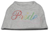 Doggy Stylz Dog-products Dog Shirts Grey / MEDIUM Rainbow Pride Rhinestone Shirts Grey