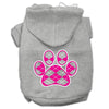 Doggy Stylz Dog-products Pet Apparel Grey / medium Argyle Paw Pink Screen Print Pet Hoodies Size