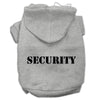 Doggy Stylz Dog-products Pet Apparel Grey Size W/ Black Size Text / XXXL Security Screen Print Pet Hoodies Size Size